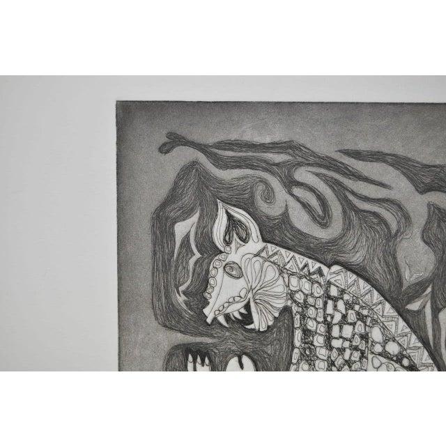 Arnold Grossman Symbolic Shamanistic Etching - Image 6 of 6