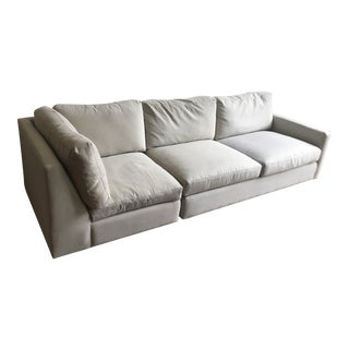 Room & Board Gray Sectional Sofa