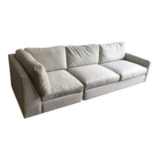 Room & Board Gray Sectional Sofa