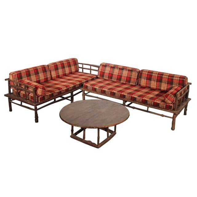Old Hickory Style Sofa Chaise Coffee Table 3 Chairish