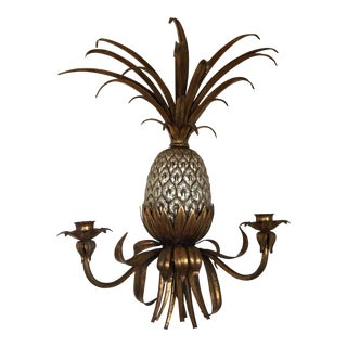 Mid-Century Tole Pineapple Sconce