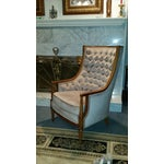 Image of Hollywood Regency Lavender Tufted High Back Chair