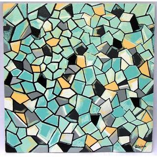 Suga Lane - Dimensions II Original Modern Acrylic Painting