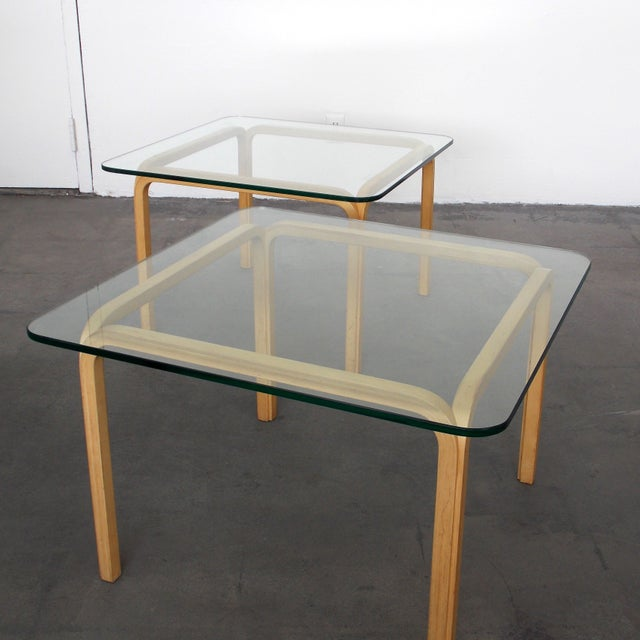 Image of Alvar Alto Bentwood End Tables - A Pair