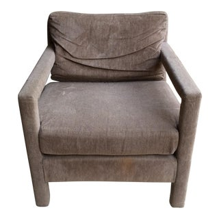 Milo Baughman Style Upholstered Chair