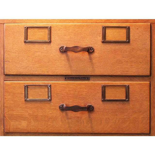 vintage library bureau makers cabinets set of 4 chairish. Black Bedroom Furniture Sets. Home Design Ideas