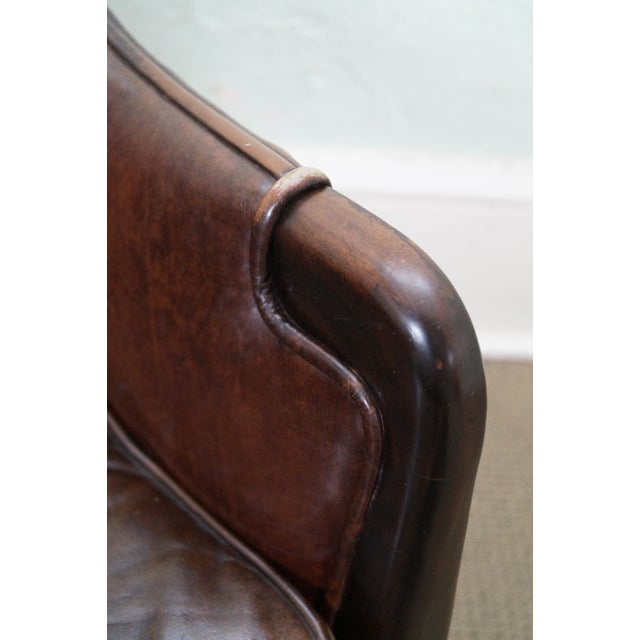 Widdicomb Small Barrel Back Leather Club Chair - Image 6 of 10