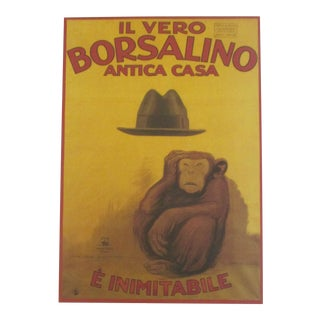Italian Monkey and the Hat Art Print