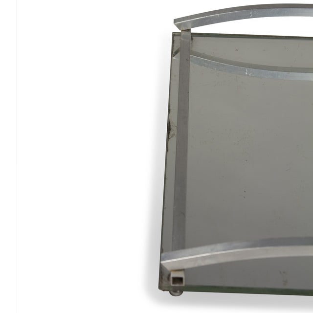 1930s Matte Nickel Frame Serving Tray - Image 6 of 9