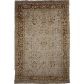 Aara Rugs Hand Knotted Oushak Rug- 12′2″ × 16′