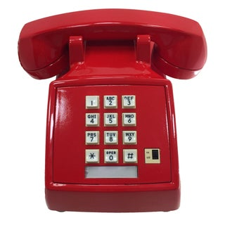 Professionally Painted Lipstick Red Desk Phone