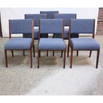 Image of Set of Six Walnut Dining Chairs by Jens Risom