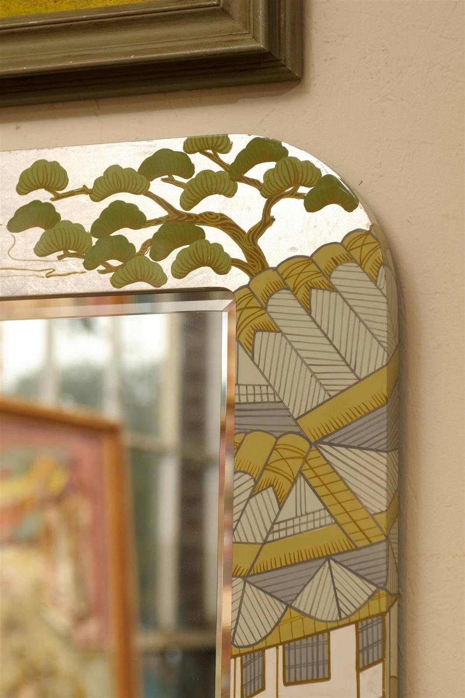 Regency Painted Silver Chinoiserie Mirror Chairish