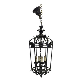19th Century Wrought Iron Lantern