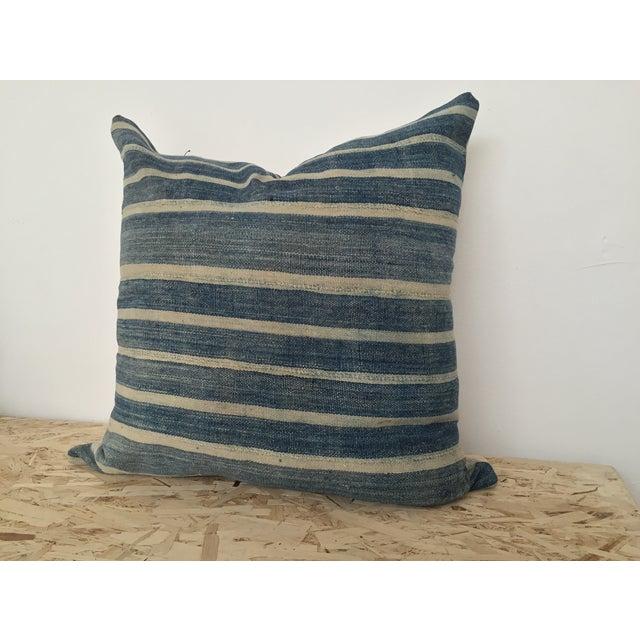 Indigo Cloth Large Pillow - Image 3 of 4