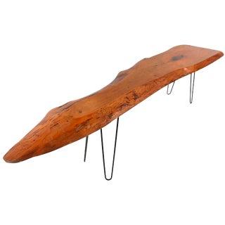Mid-Century Free Form Tree Slab Coffee Table