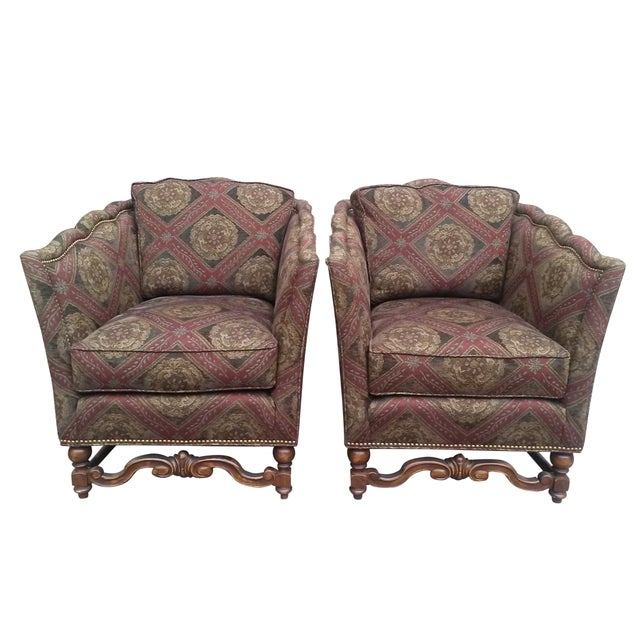 French Marquise Style Chairs - Pair - Image 1 of 9