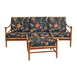 John Wisner Bamboo Sofa & Ottoman