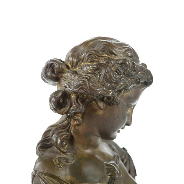 French 19th Century Bronze Maiden Bust - Image 6 of 9