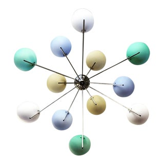 1980's Italian Glass Chandelier