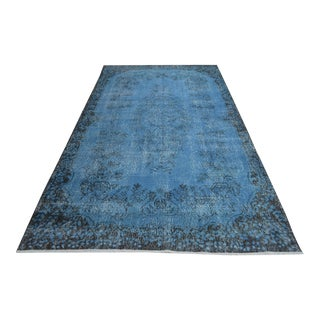 "Hand Knotted Green Overdyed Rug - 5'5"" X 9'5"""