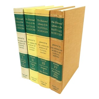 The Illustrated Library of the Natural Sciences Books - Set of 4