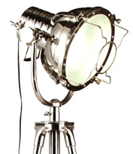 image of industrial spotlight floor lamp - Spotlight Floor Lamp
