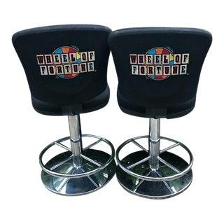 Wheel of Fortune Casino Swivel Bar Stools - a Pair
