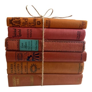 Vintage Novels in Shades of Red - Set of 6