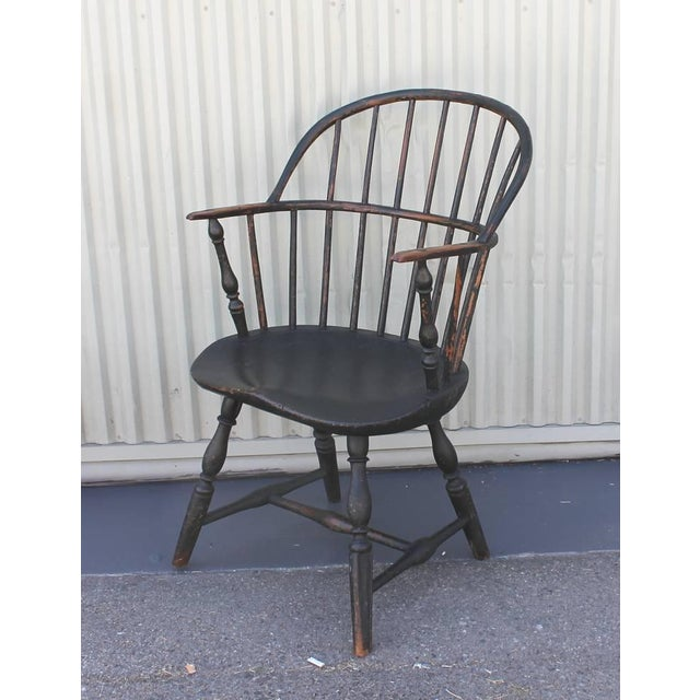 18th Century Original Painted and Signed New England Windsor Armchair - Image 5 of 10