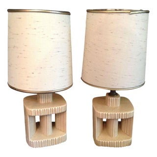 Mid-Century Retro Architectural Lamps - A Pair