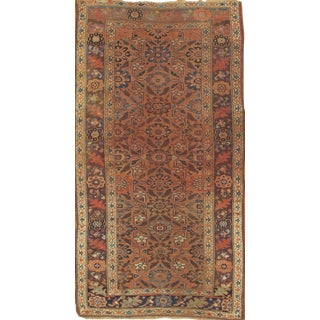 "Pasargad NY Antique Persian Hamadan Hand Knotted Wool & Cotton Area Rug -- 4'8"" X 9'"