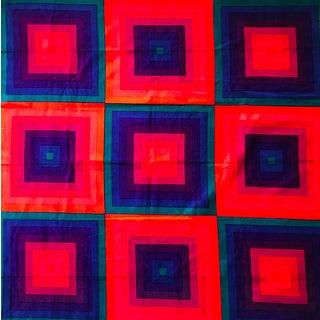 """Verner Panton """"Quadrat"""" Velour Fabric - 4 Yards"""