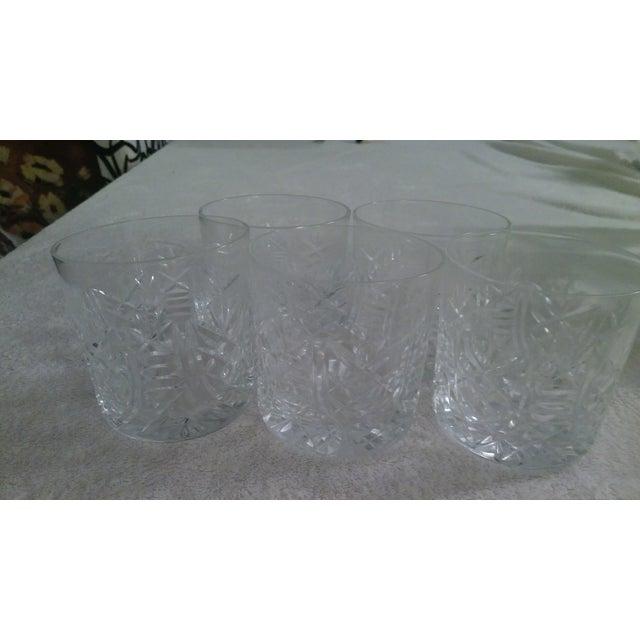 Vintage Etched Rocks Glasses - Set of 4 - Image 3 of 11