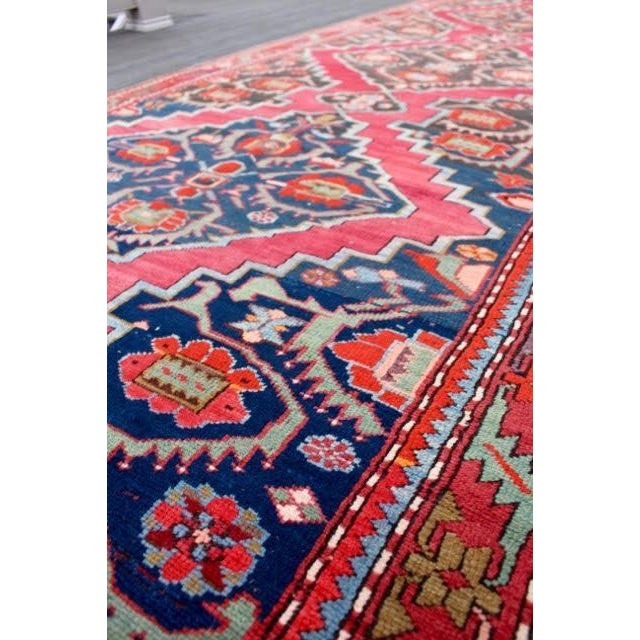 "Semi-Antique Caucasian Kazak Runner - 4'4"" x 10'1"" - Image 4 of 9"