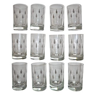 Fine Cut Crystal Short Glasses - Set of 12