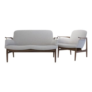 Finn Juhl Sofa and Chair for Niels Vodder