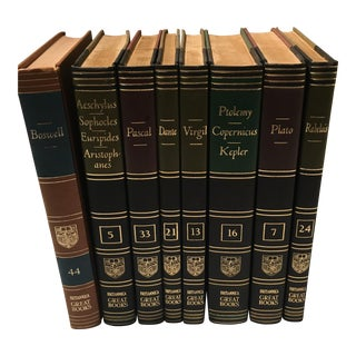 Vintage Classic Decorative Books - Set of 8