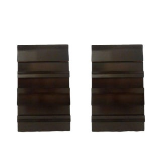 Pair of Four-Drawer Mahogany Nightstands/ Pier Chests by Red Lion