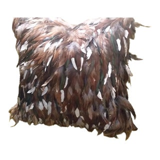 Barney's NY Hand Painted Feather Pillow