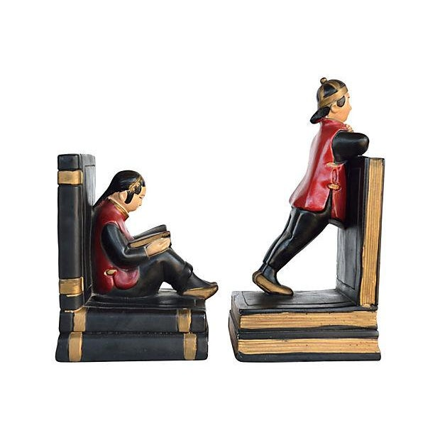Image of Figural Bookends - Pair
