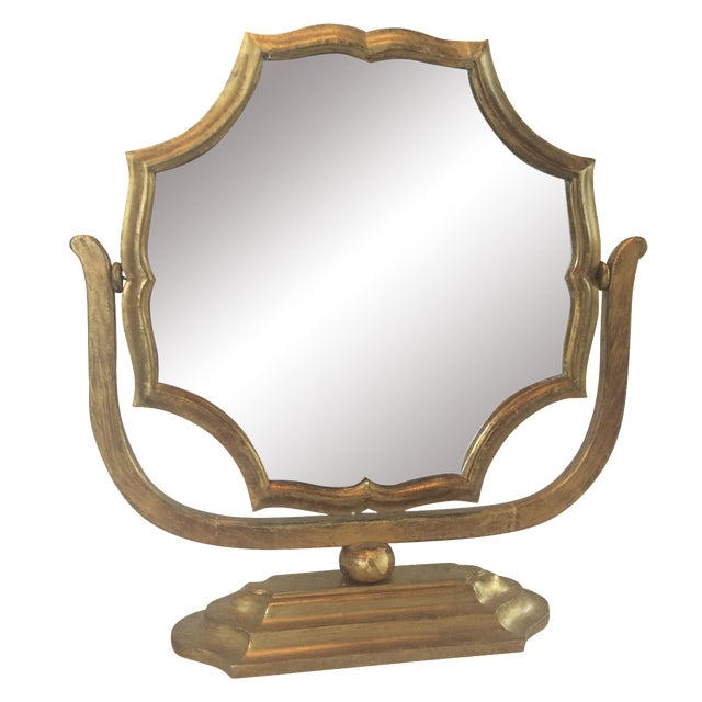 Gilt Wood Table Mirror - Image 1 of 8
