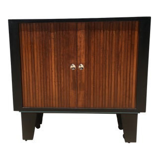 Mid-Century Modern Tambour Door Chest Bar