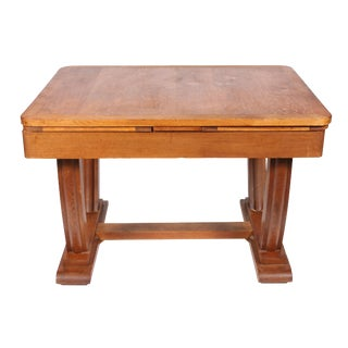 1930s Art Deco Quarter Sawn Oak Table