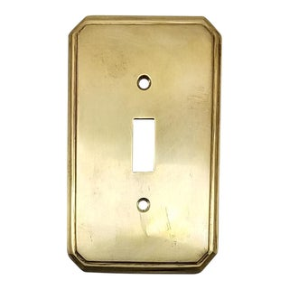 Vintage Brass Switch Plate