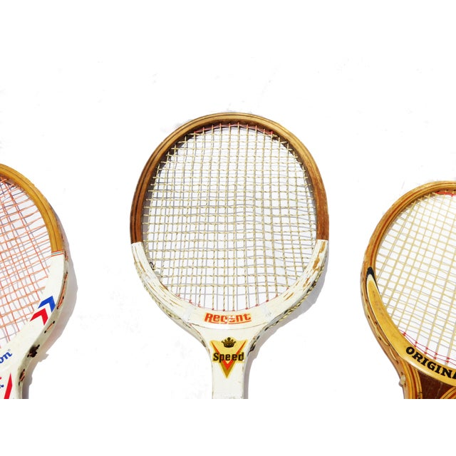 Vintage Wilson & Regent & Original Mid-Century Tennis Rackets - Set of 3 - Image 2 of 3