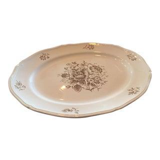 Antique Floral Serving Platter