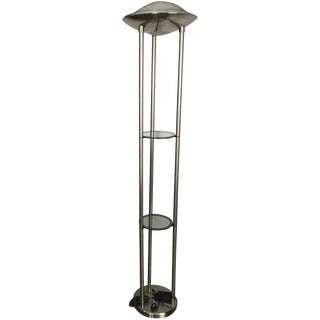 Contemporary Brushed Steel Floor Lamp