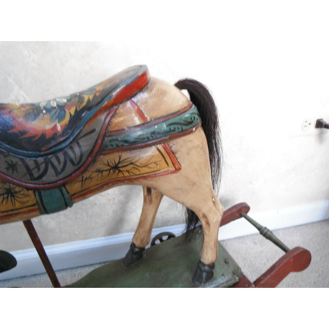 Image of Vintage Display Hand Painted Rocking Horse
