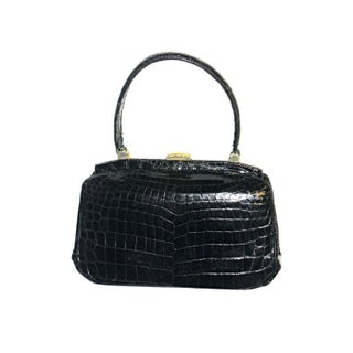 Vintage Black Alligator HandBag